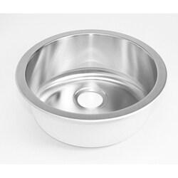 DeNovo Round Stainless Steel Flat-bottom Bar Sink
