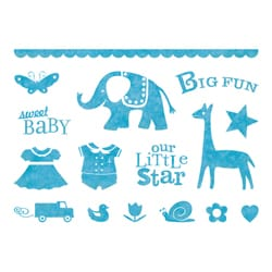 Inkadinkado Clear Baby Animal Stamps