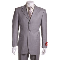 Mantoni Red Labeled Medium Grey Wool Suit