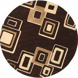 Safavieh Handmade Soho Gala Brown/ Beige New Zealand Wool Rug (6' Round)