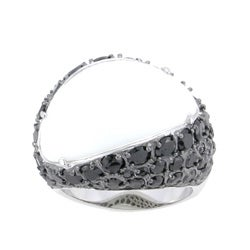 Sterling Essentials Sterling Silver White Onyx and Black CZ Ring
