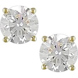 14k Gold 2ct TDW Diamond Stud Earrings (G-I/SI2-I1)