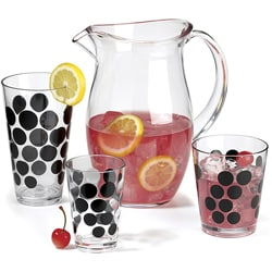 Zak! Dot Dot 13-piece  Black Tumbler Set