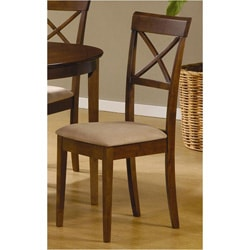 Walnut X-back Dining Chairs (Set of 2)