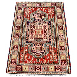 Indo Kazak Red/ Gold Rug (3 x 5)
