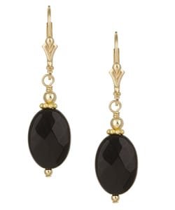 Charming Life 14k Goldfill Black Onyx Drop Earrings