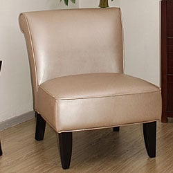Garland pearl leather chair 11372468 for Abbyson living soho cream fabric chaise