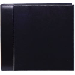 Black Faux Suede 12x12 Memory Book Binder with 40 Bonus Pages