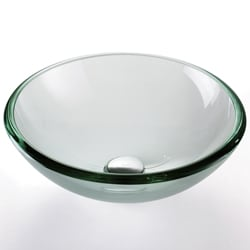 Kraus 19 mm thick Clear Glass Vessel Sink
