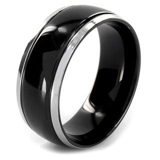 Two-tone Stainless Steel Black-plated Center Ring