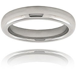 Men's Tungsten Carbide Domed Polished Band (4 mm)