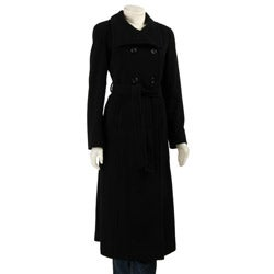 Ellen Tracy Women's Wool and Cashmere Maxi Coat
