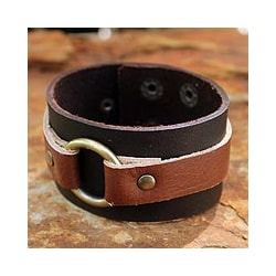 Genuine Leather 'Power' Bracelet (Thailand)