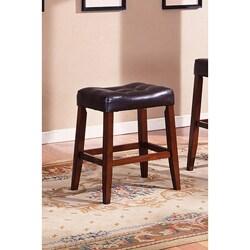 Tufted-seat Saddle Counter Stool (Set of 2)
