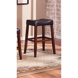 Tufted-seat Saddle Bar Stools (Set of 2)