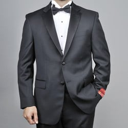Mantoni Red Labeled Men's 2-button Black Wool Tuxedo