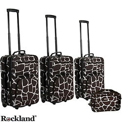 Rockland Deluxe Giraffe 4-piece Luggage Set