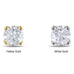 Miadora 14k Gold Single Diamond Accent Earring