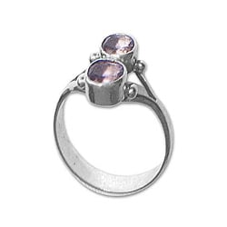 Sterling Silver 'Twin Spirits' Amethyst Ring (Indonesia)