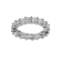 Simon Frank 14k Gold Overlay Princess-cut Stackable CZ Eternity Band