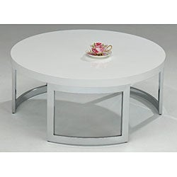 White Round Coffee Table 11406344 Shopping Great Deals On Coffee Sofa End