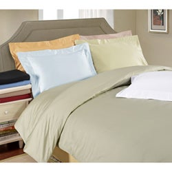 Egyptian Cotton 650 Thread Count Solid Sateen Finish 3-piece Duvet Cover Set