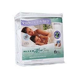 AllerZip Terry Twin Extra Long Bedbug-proof Waterproof Mattress Protector