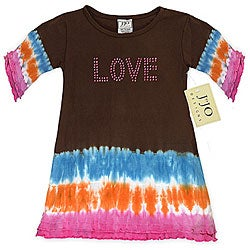 Sweet Jojo Designs Baby Girl's 'Love' Tie-dye Dress
