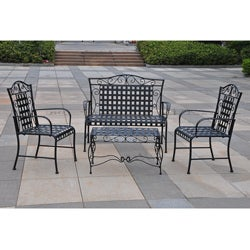 Wrought Iron Settee Patio Set