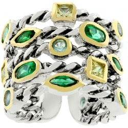 Kate Bissett Two-tone Cable-style Designer-inspired Ring