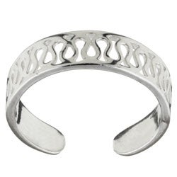 Sterling Essentials Sterling Silver Honeycomb Toe Ring
