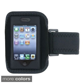 Deluxe Black Secure Padded Workout Armband Case for Apple iPhones