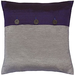 Silver and Cobalt Blue Thai Silk Cushion Cover