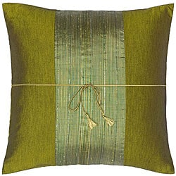 Green Thai Silk Cushion Cover