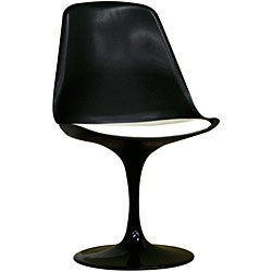 Redd Black Chair with White PVC Cushion