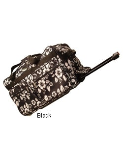 Hawaiian Print Rolling Duffle Bag