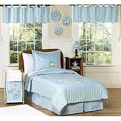 Go fish twin children 39 s ocean bedding set 11448074 for Fish bedding twin