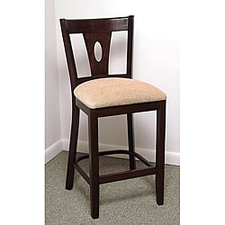 Medium Oak Pearl Drop Counter Stool