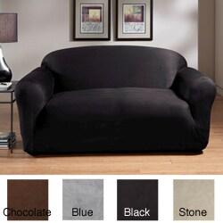 Microfiber Stretch Suede Sofa Slipcover 11452422