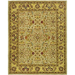 Safavieh Handmade Classic Kasha Gold Wool Rug (6' x 9')