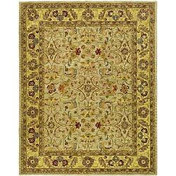 Handmade Classic Kasha Gold Wool Rug (9'6 x 13'6)