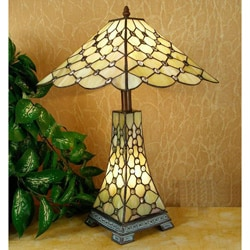 Tiffany-style Simple Jewel Double Lit Lamp