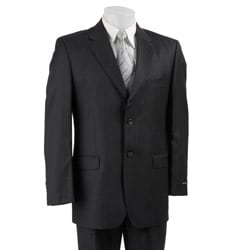 Jones New York Men's Navy Pinstripe Wool Suit