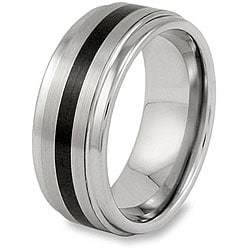 Men's Tungsten Carbide Black Resin Inlay Band (9 mm)