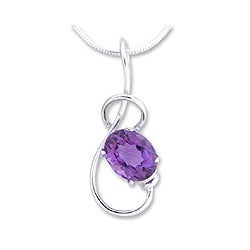 Sterling Silver Amethyst 'Melody' Necklace (India)