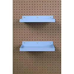 Epoxy-coated Steel Pegboard Shelf with Hooks