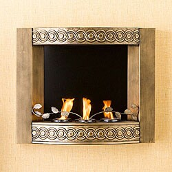 Bristol Antique Gold Wall Mount Fireplace