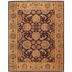 Safavieh Handmade Treasures Burgundy/ Beige Wool and Silk Rug (9'6 x 13'6)
