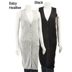 FINAL SALE Kersh Women's Long Duster Vest