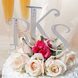 Lettered Crystal Cake Toppers